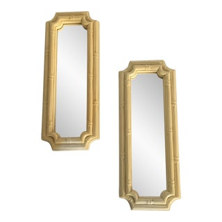 Faux Bamboo Mirrors - A Pair
