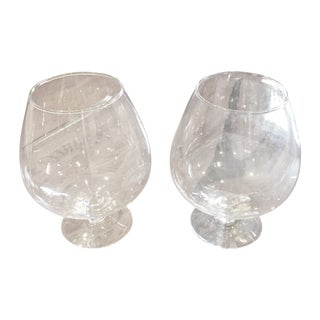 Crystal Brandy Snifters - A Pair