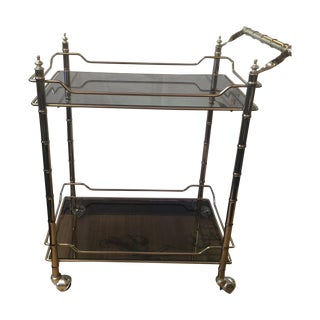 Hollywood Regency Rolling Bar Cart