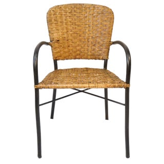 Mid-Century Child's Rattan & Metal Chair