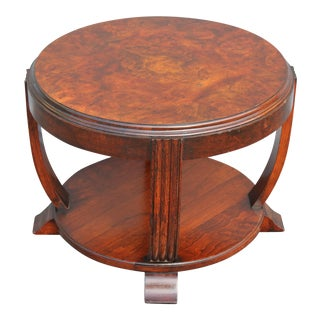 1930s Vintage French Art Deco 2 Tier Accent Table