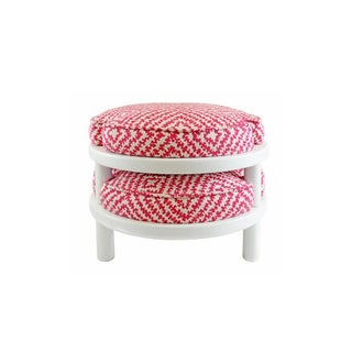 Raspberry Stackable Stools - Set of 2