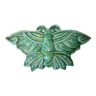 Asian Moth Wall Vase