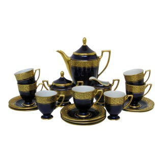 Bavarian Porcelain Coffee Service, 19 Pieces