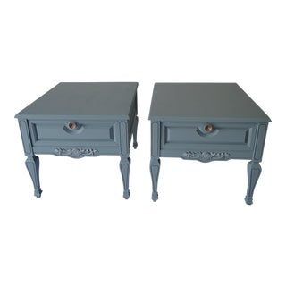 Vintage Weiman Coastal Living Style Side Tables - a Pair