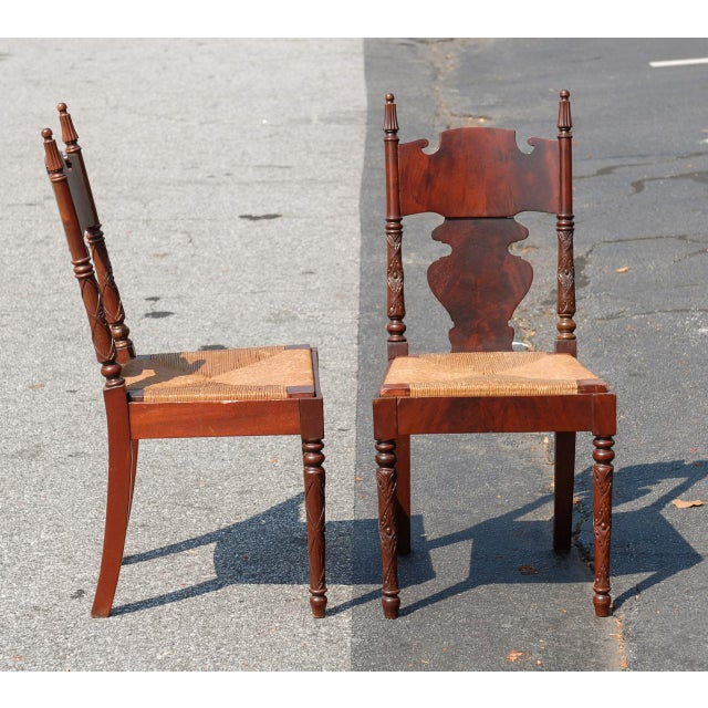 r.j. Horner Empire Revival Hall Chairs - a Pair - Image 2 of 3