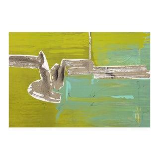 "Dimitri Petrov ""Green Abstract"" Lithograph"