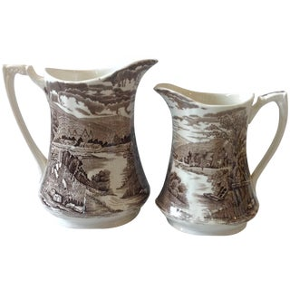 Alfred Meakin English Pitchers - A Pair