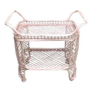 Vintage Spun Fiberglass Rolling Bar Cart
