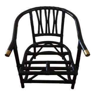 Asian Chinoiserie Bamboo Chair