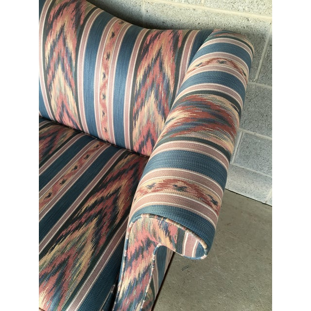 Hickory Chair Flame Stitch Chippendale Style Camel Back Sofa - Image 5 of 11