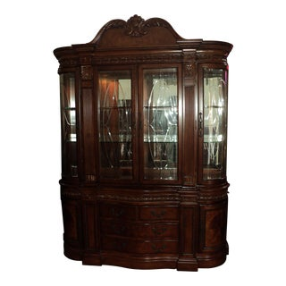 Chippendale Breakfront China Cabinet