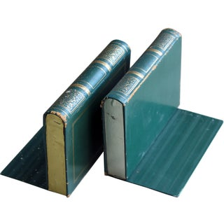 Vintage Green Bookends - A Pair