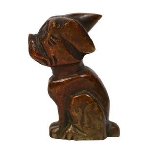 1930s Bronze Dog Figurine