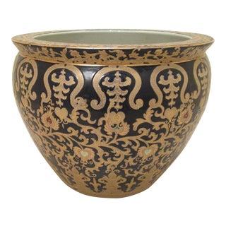 Porcelain Fishbowl and Lotus Jardiniere
