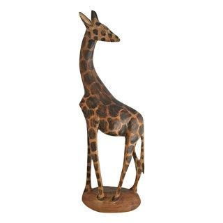 Wooden African Giraffe Figurine