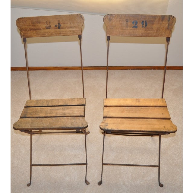 Image of French Campaign/Garden Chairs C.1890's - Pair