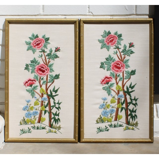 Vintage Needlepoint Pictures - Pair - Image 6 of 7