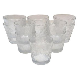 Linear Rock and Juice Drinking Glasses - Set of 11