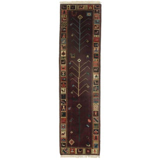 RugsinDallas Hand Knotted Gabbeh Style Runner - 2′9″ × 10′2″