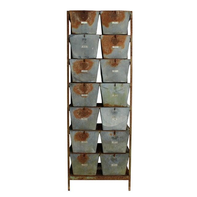 Vintage Locker Basket Unit - Image 1 of 3