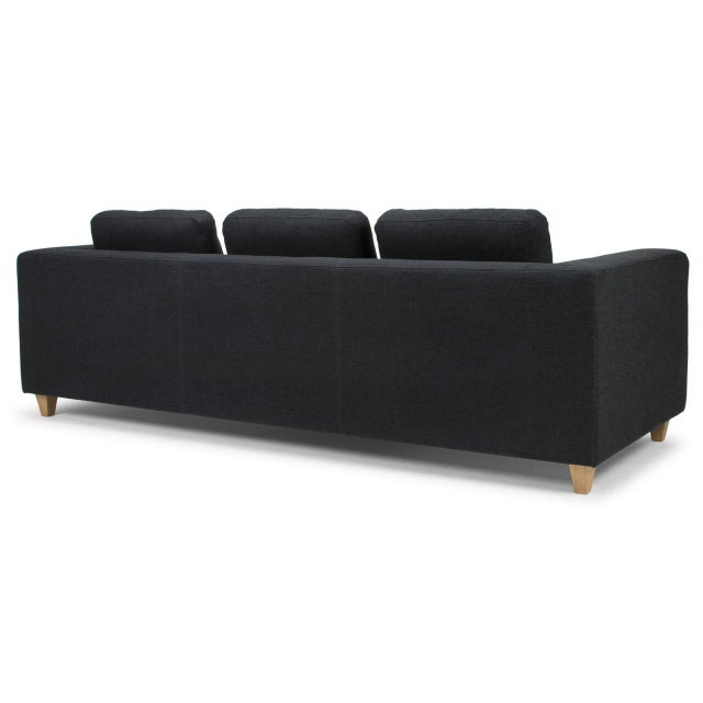 Sarreid LTD Modern Black Sofa - Image 4 of 5