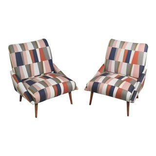 Mid-Century Modern Slipper Chairs- A Pair