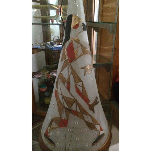 Mid Century Harlequin Lamp, Style of Marc Bellaire - Image 4 of 6