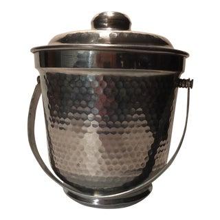 Italian Nasco Hammered Aluminum Ice Bucket