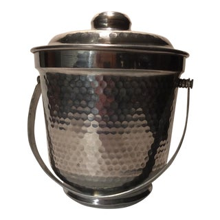 Italian Nasco Hammered Aluminum Ice Bucket