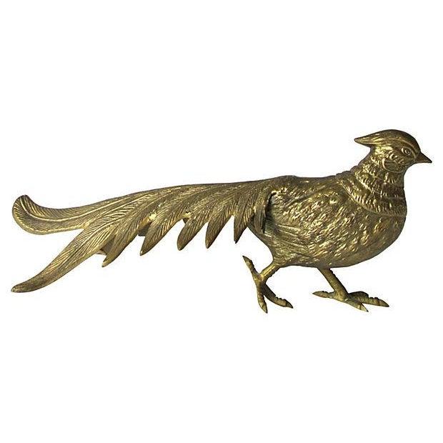 Oversize Brass Pheasants - Pair - Image 3 of 5