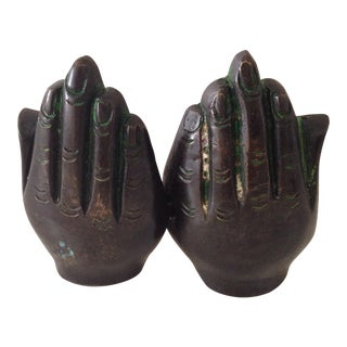 Bronze Carved Buddha Hands