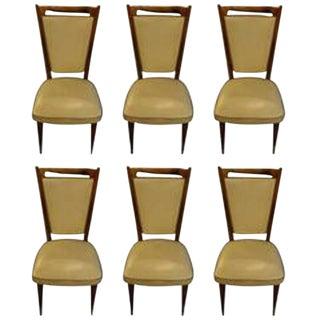 Gio Ponti Style Mid-Century Modern Dining Chairs- Set of 6