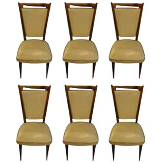 Gio Ponti Style Mid-Century Modern Dining Chairs- Set of 6