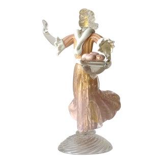 1930's Barovier e Toso Murano Female Sculpture