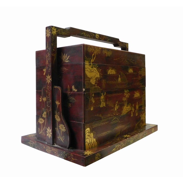 Image of Handmade Brown & Gold Graphic Wedding Box