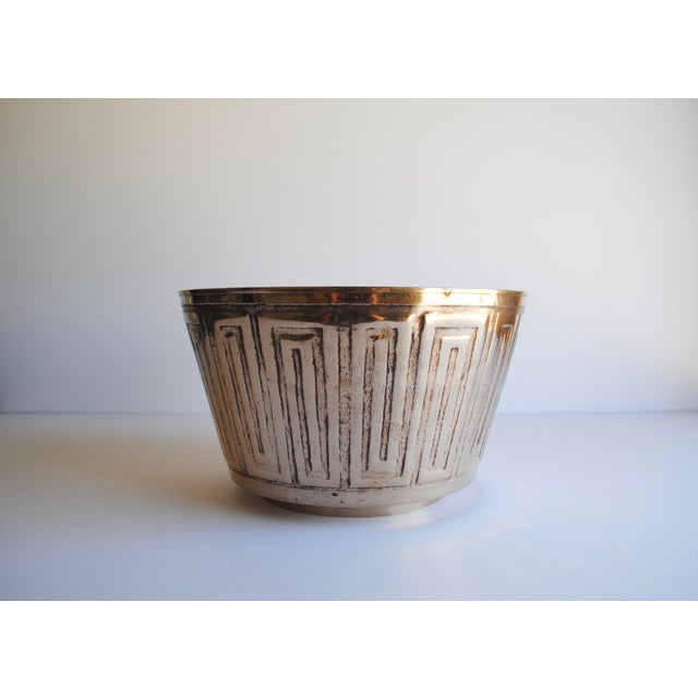 Vintage Etched Brass Bowl - Image 3 of 3