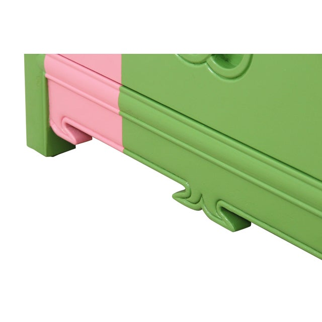 Midcentury Style Green and Pink Chest of Drawers - Image 6 of 7
