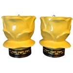 Image of Maddux of California Yellow Wall Vases - A Pair