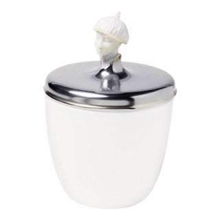 """Orient Malay"" Biscuit Jar with Platinum Lid by Ena Rottenberg"