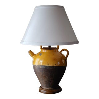 Antique French Pottery Lamp