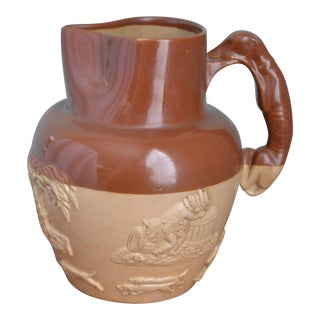 English Doulton Lambeth Large Pitcher