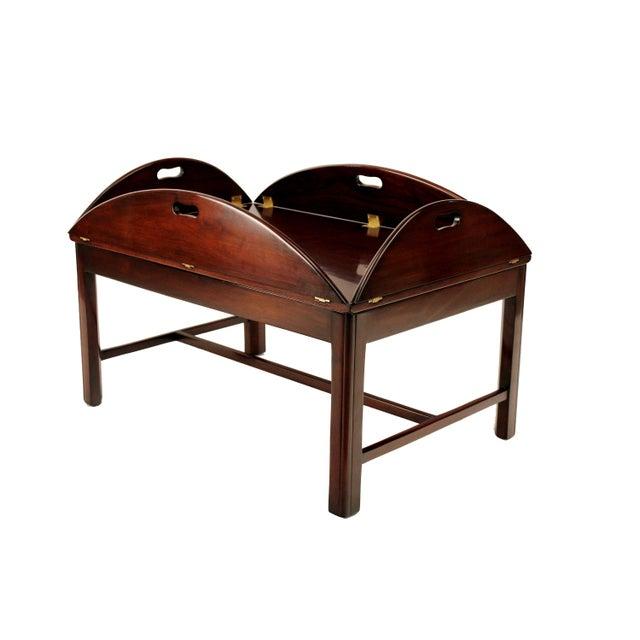Mahogany Butler 39 S Tray Coffee Table Chairish