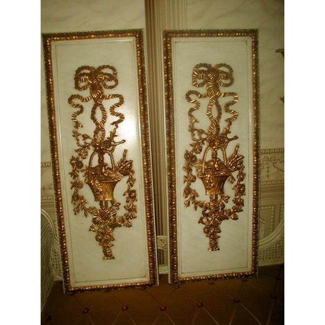 Gilt Decorative Wall Hung Panels - A Pair - Image 2 of 8