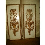 Image of Gilt Decorative Wall Hung Panels - A Pair