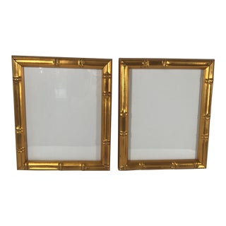 Pair of Gold Gilt Bamboo Frames