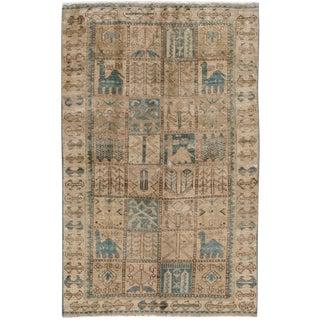"Apadana Antique Persian Bakhtiari Rug -- 4' x 6'4"""