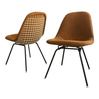Herman Miller Eames Wire Chairs With Alexander Girard Covers - A Pair
