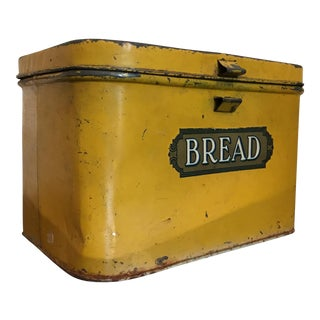 Antique Metal Bread Box