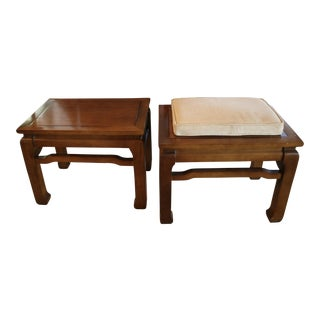 Ming Style Benches or End Tables- A Pair